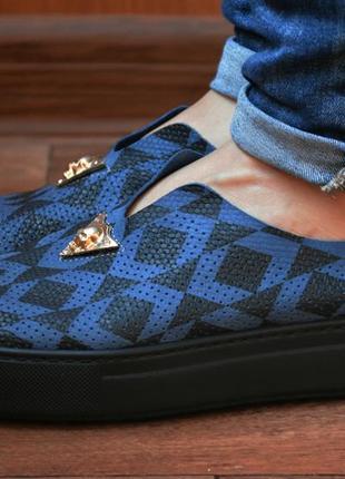 Стильные кожаные слипоны, туфли