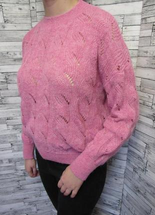 Стильный ажурный теплый свитер marks & spencer