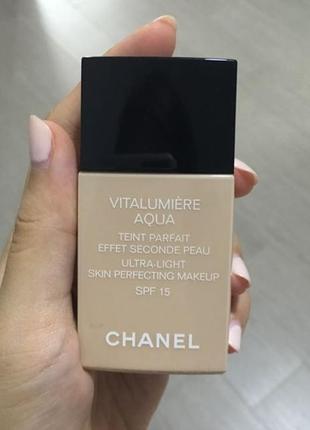 Ультралегкий тональный флюид spf 15 chanel vitalumière aqua
