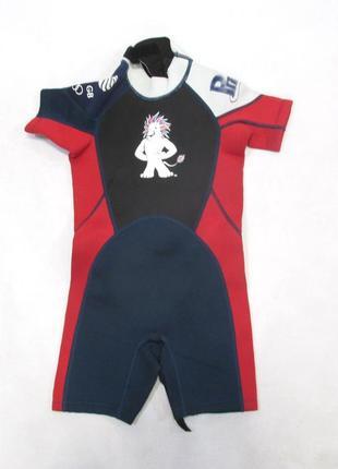 Гидро костюм детский team gb, 5-6 лет, 110-116 см, 2мм, есть глубокая царапина, уценка!