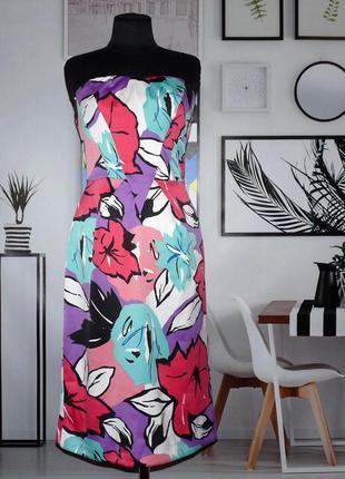 Платье бюстье с цветочным принтом union boutique