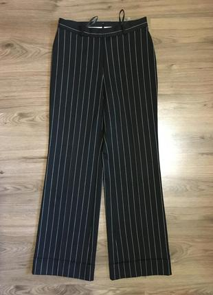 Стильные широкие брюки в полоску,с манжетом!