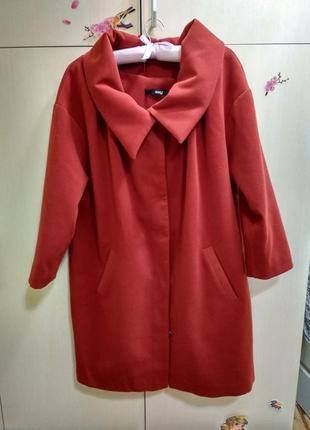 Стильное пальто! кашемир, шерсть.