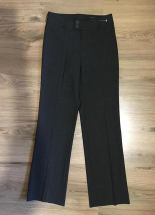 Базовые прямые брюки,42%шерсть,графит.ritva falla