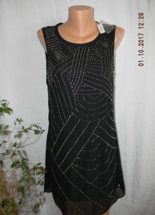 Новое нарядное  вышитое бисером платье george