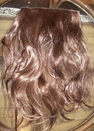 Накладные волосы на заколках длина 52см, ширина 24см