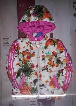 Крутанская куртка adidas оригинал на пуху на 1-2.5 года