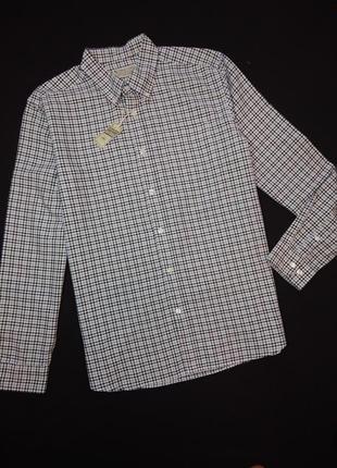 Мужская рубашка в клетку от фирмы tu.  размер l
