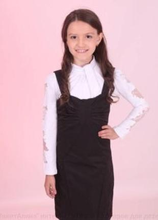Короткий трикотажный сарафан на девочку 10-12 лет