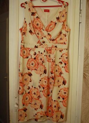 Лёгкое платье с драпировкой на талии