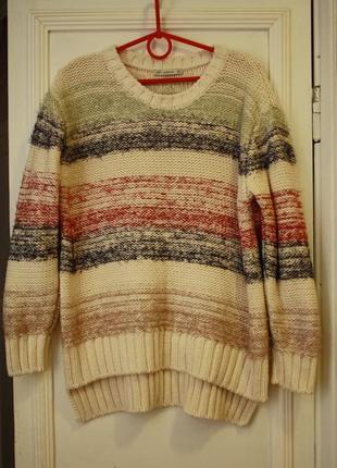 Плотный свитер оверсайз 45% хлопка