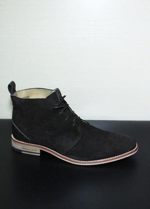 Оригинал ботинки туфли simon carter англия byrd navy suede chukka чукка burton london