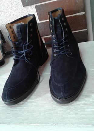 Синие замшевые ботинки massimo dutti 42 р.