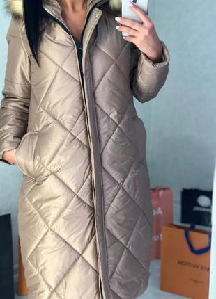Универсальное теплое стеганое пальто, дутик, пуховик. s-m, l-xl