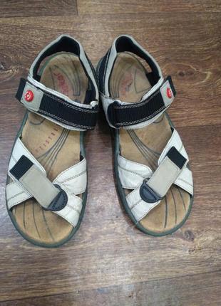 Кожаные спортивные сандалии, босоножки rieker 38 размер