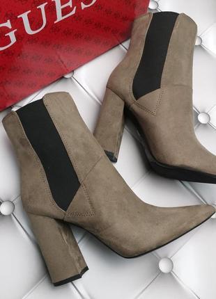 Guess оригинал замшевые ботильоны на широком каблуке бренд из сша