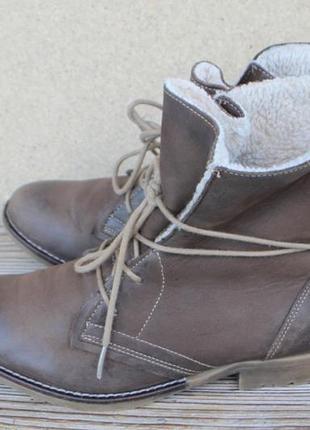 Ботинки tamaris кожа (нубук) германия 39р