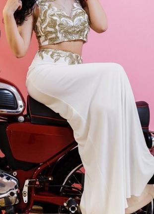 Шикарное вечернее платье jovani топ+юбка