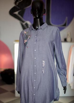 Вискозная удлиненная рубашка от lc waikiki