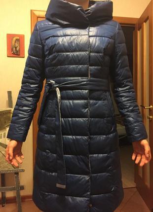 Стеганое  теплое зимнее  пальто