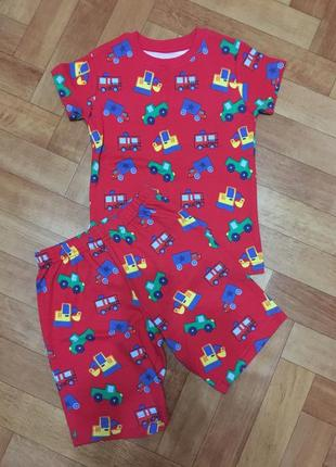 Новая  хлопковая пижама на 2-3 года с машинками некст next