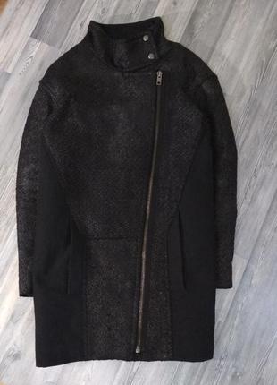 Стильное демисезонное зимнее пальто оверсайз бойфрэнд кокон