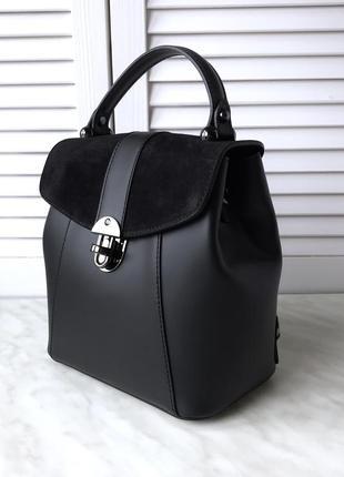 Сумка рюкзак из натуральной кожи италия