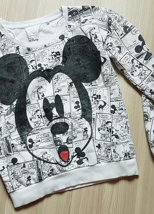 Свитшот в комиксах микки disney реглан
