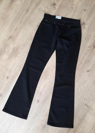 Джинсы levis  bootcut 529 черные с клешными штанками