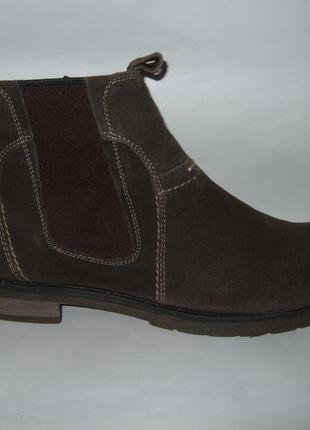 Стильные ботинки bugatti из натуральной замши размер 43 стелька 28 см