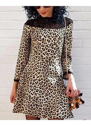 Платье в леопардовый принт от zara