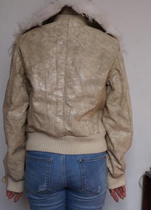 Стильная косуха дубленка куртка morgan2 фото
