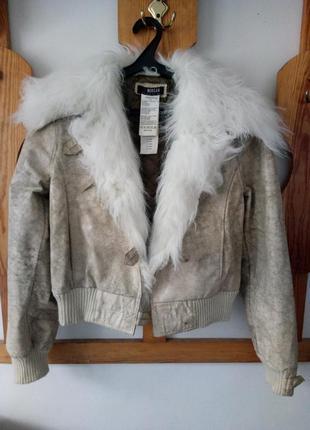 Стильная косуха дубленка куртка morgan5 фото