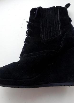 (37/24см) кожа! красивые демисезонные ботинки, полусапожки