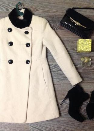 Пальто размер 40. s.  теплое на пуговицах женское stella polare