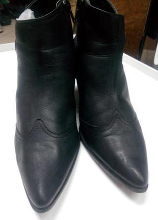 Кожаные ботинки полусапожки осень