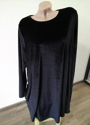 Красивое платье платице под бархат велюр размер 20