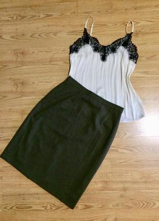 Классическая юбка шерсть + кашемир юбка м-л