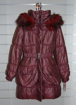 Зимняя куртка удлиненная размер - м