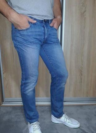 Брендовые джинсы на болтах benetton regular 32/34
