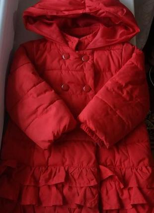 Куртка теплая на девочку 1-2 года