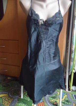 Шелковая ночнушка платье пеньюар