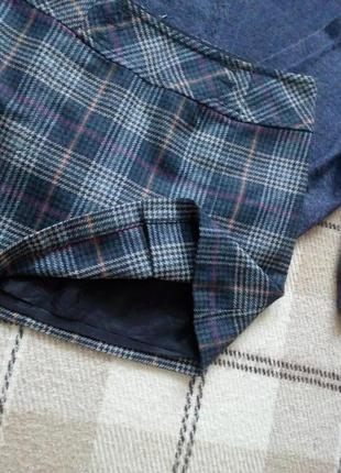Трендовая юбка в клетку на подкладке шерсть от mexx