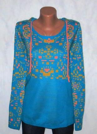 Джемпер свитер с капюшоном от maui wowie размер: 48-l