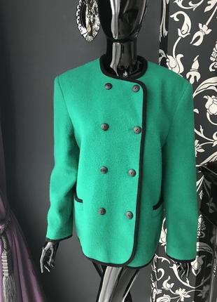 Пиджак зелёный, шерсть