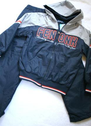 Костюм спортивный куртка демисезонная с утепленными штанами на флисе на рост 128см