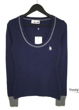 Кашемировый свитер u.s. polo синего цвета