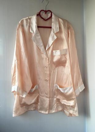 Шелковая рубашка, натуральный шёлк, домашняя одежда , пижама