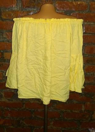 Топ блуза кофточка со спущенными плечами f&f3 фото