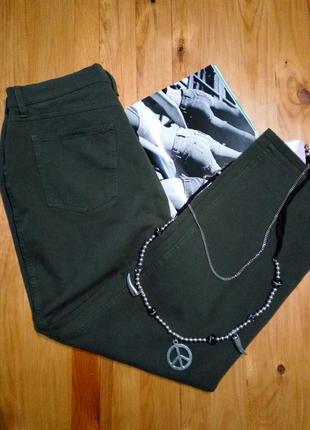 Стрейчевые штаны брюки под джинсы высокая посадка